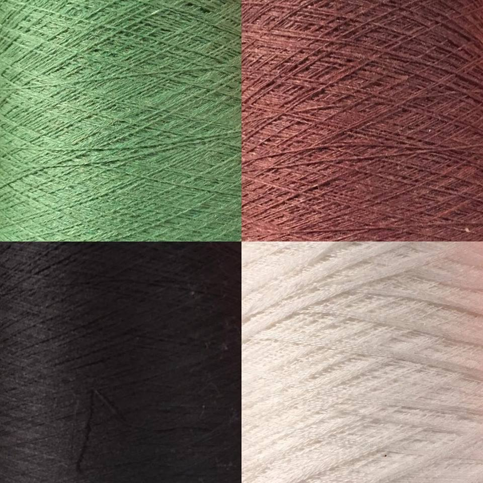 four different yarn examples
