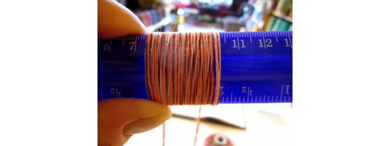 Using Wraps Per Inch to Determine Yarn Weight