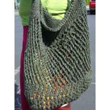 Bottom-Up Knitted Market Bag