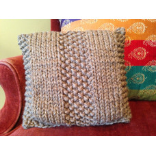 Knitted Throw Pillow Kit