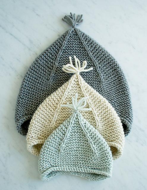 Garter Ear Flap Hat